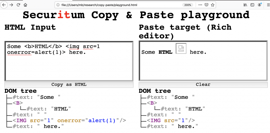 This writeup is a summary of my research on issues in handling copying and pasting in: browsers, popular WYSIWYG editors, and websites. Its main goal